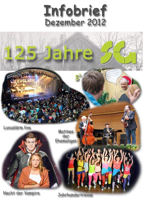 Titelbild des Infobriefes vom Dezember 2012